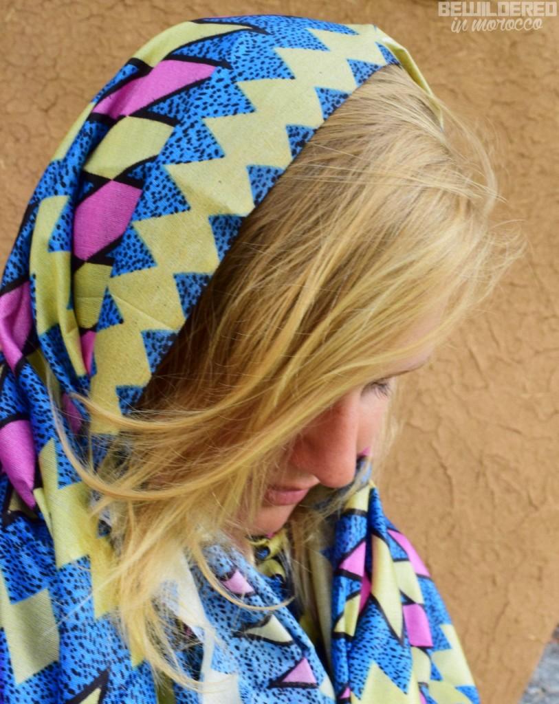 wearing melhfa