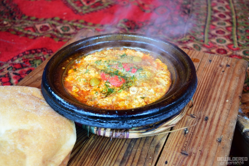 Delicious tajine for breakfast