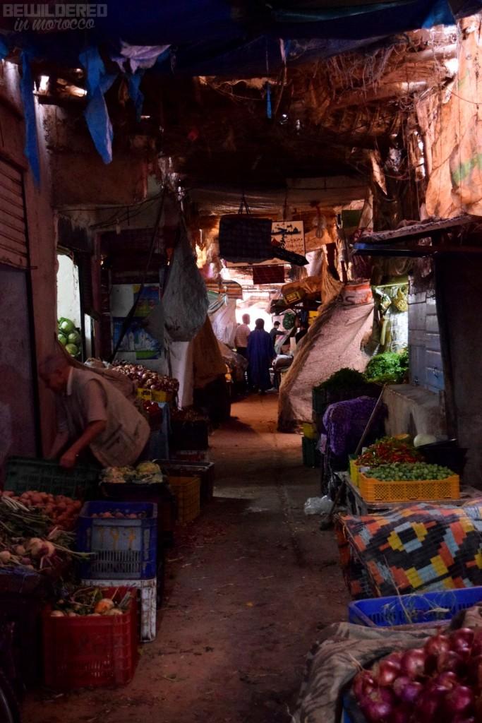 tiny, dark alleys of the souk...