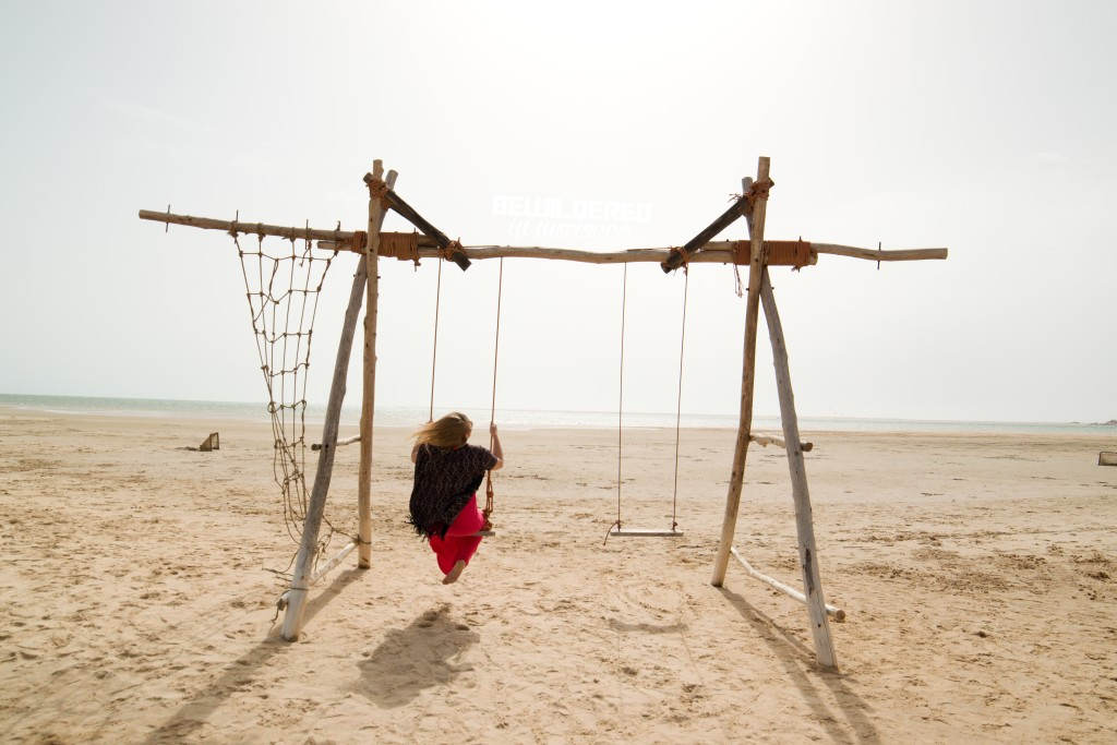 Swings on he beach