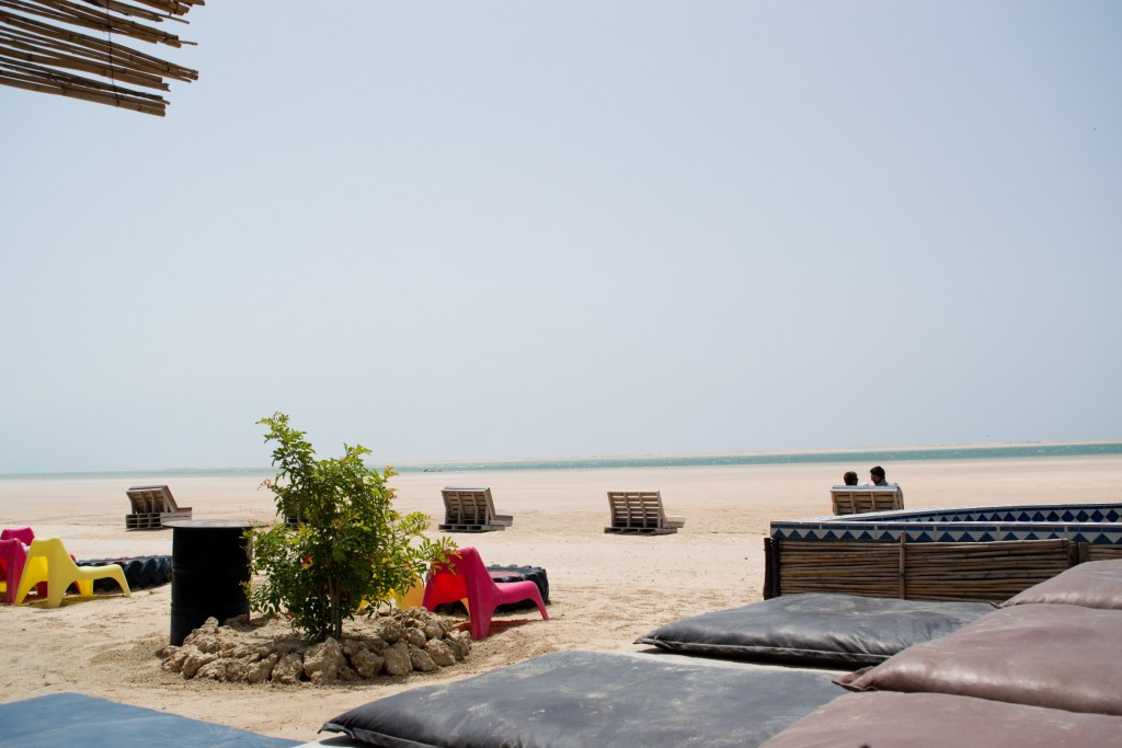 view from the beach bar
