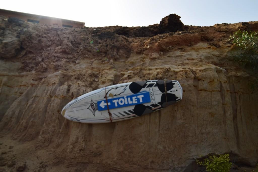 Toilets on the beach;)