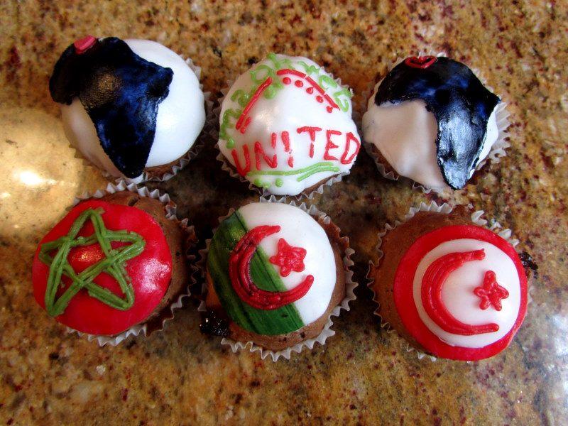 cupcake morocco fatima fatma cookie hand hamsa khmissa africa themed african shape contour