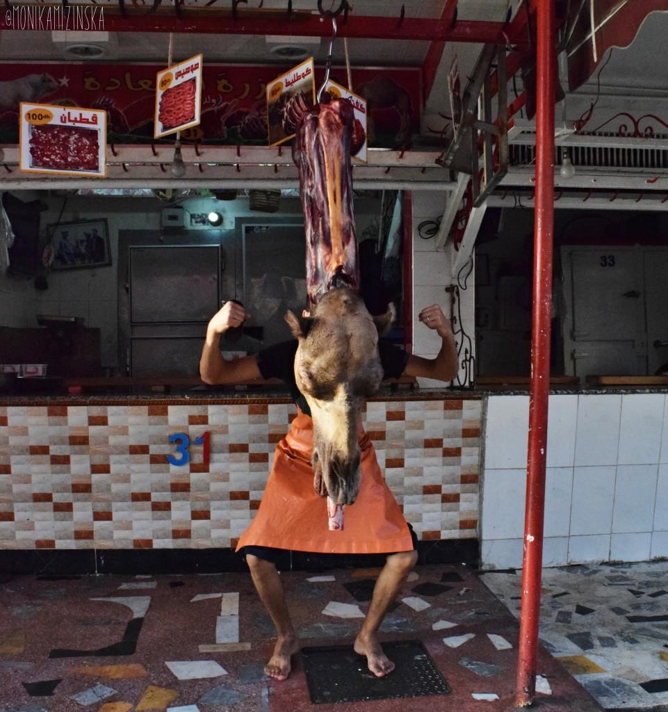 beheaded butcher rzeznik maroko morocco marokko maroc camel tagine meat meat shop