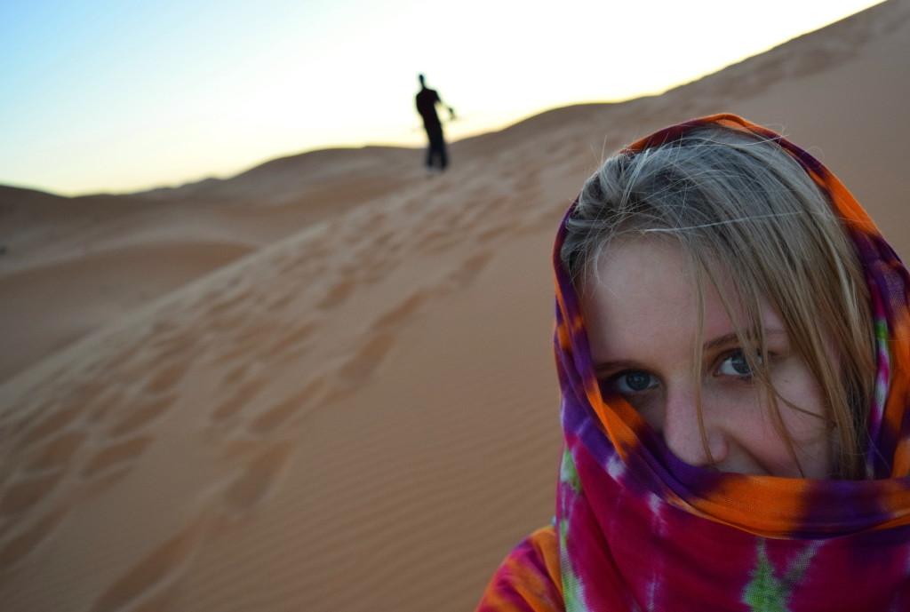 sahara style dress blonde merzouga camp tent berber