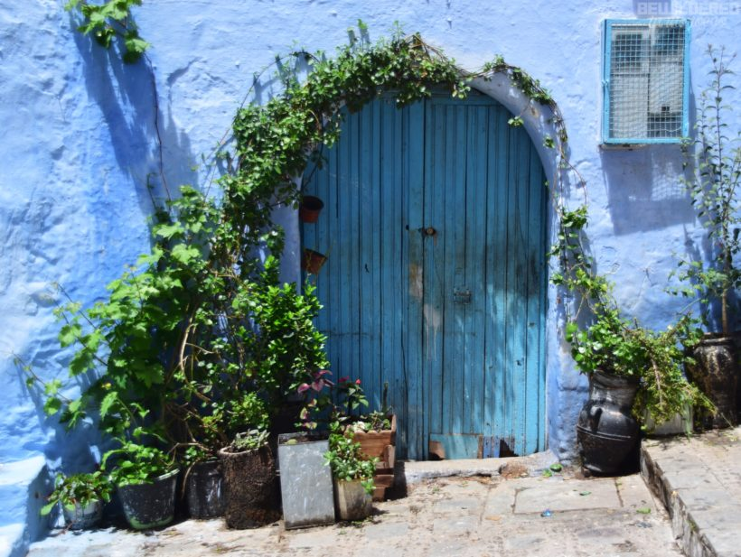 Doors in Chefchaouen moroccan interior architecture design