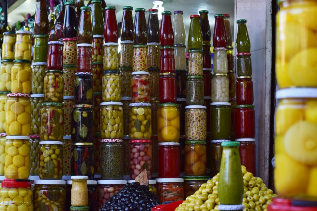 Olives and preserved veggies