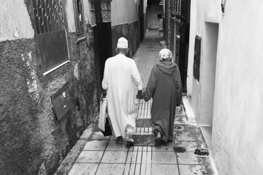 Love in the medina, this couple marked me by the act of holding hands and by the benevolence that each of them carries for the other.