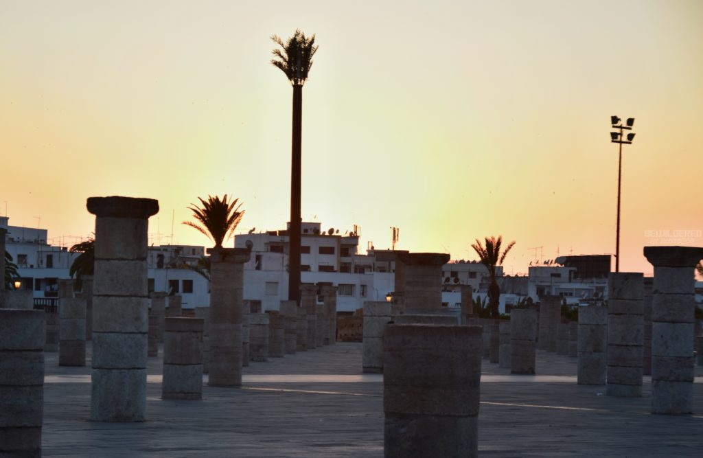 hassan tower rabat sunset