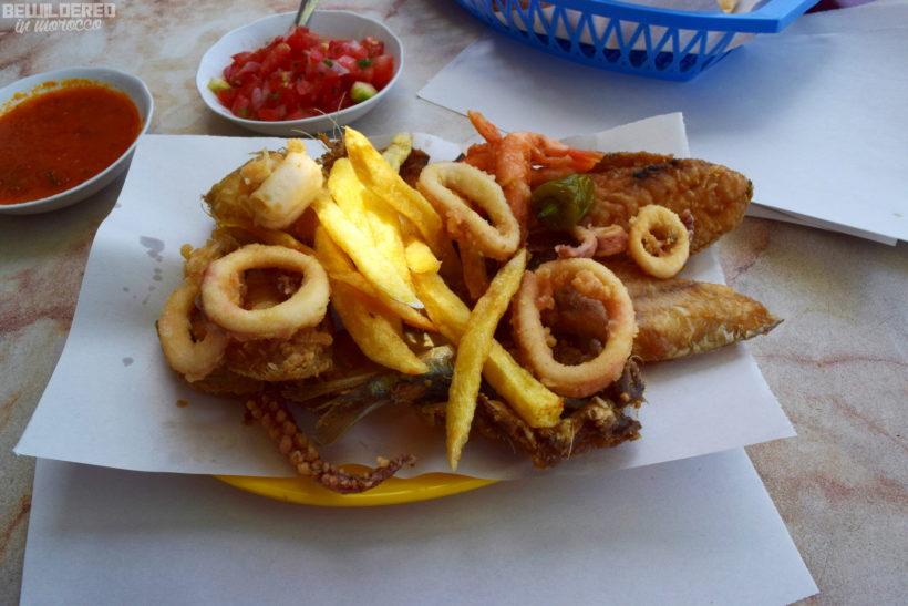 Friture, deep fried seafood